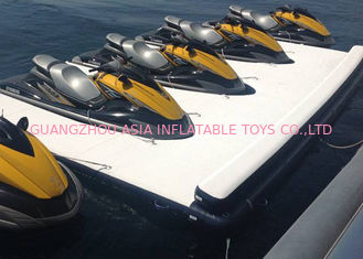Floating Inflatable Yacht Slides Boat Extension Dock Dengan 3 Tahun Garansi