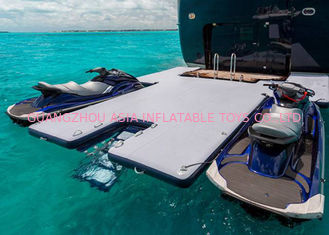 Durable Inflatable Yacht Slides Mega Dock, Jet - Ski Drive - On Blow Up Swim Platform