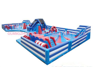 Fire - Retardant Kids Blow Up Amusement Park 18oz Bahan PVC Komersial