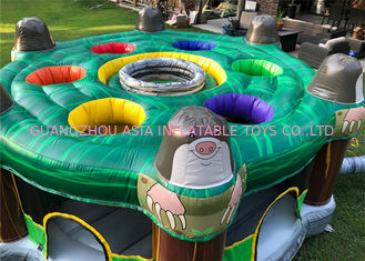 Lucu 0,55mm PVC Tarpaulin Inflatable Sports Games Dengan Silk - Screen Printing