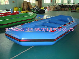 Cina 3.2m Long PVC tarpaulin Blue Color Inflatable Boat for 8 Persons pabrik
