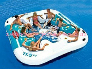Cina Water Proof Fiesta Inflatable Floating Island , Family Inflatable Boat pabrik