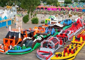 Cina 3 years Guaranteed Adrenaline Rush Extreme Inflatable Obstacle Course pabrik
