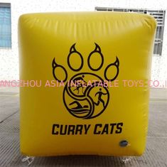 Cube Shape Terpal Marker 0.9mm PVC Inflatable Buoys Logo Disesuaikan