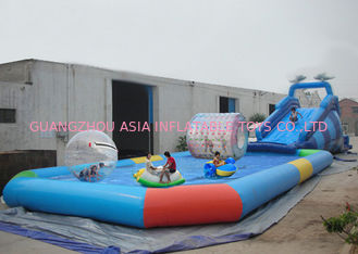 Cina Customize Made Kids Inflatable Pool Water Park with Slide for Fun pabrik