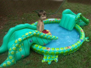 Cina Small Water Park Kids Inflatable Pool with Animal for Backyard Play pabrik