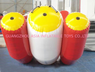 Cina Durable Red And White Water Seesaw Inflatable Water Games For 4 People pabrik