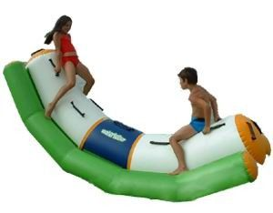 Cina Single Inflatable Water Totter / Inflatable Water Sports For Children pabrik