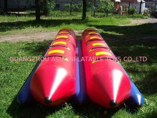 Cina Inflatable Dual Tube Banana Boat, Inflatable Tube Boat For Water Sports pabrik