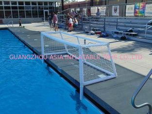 Cina Pure White PVC Inflatable Water Sports , Pool Floating Water Polo Goals pabrik