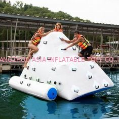 Cina 3m Height Inflatable Water Sports , Inflatable Climbing Wall With Water Slide pabrik