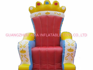 Cina Chinese Supplier Advertising Inflatable King Chair Sofa For Chair Furniture Exhibition pabrik