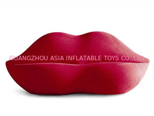Cina New Lip Shaped Design Inflatable Pink Couch Sofa With Two Seats For Relax pabrik
