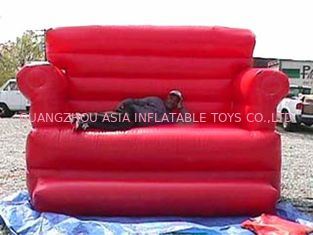 Cina Home Red Pvc Tarpaulin Folded Inflatables Furniture Couch Sofa For Living Room pabrik