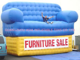 Cina Blue Advertising Inflatables Couch Sofa Manufacturer With Wholesale Price pabrik