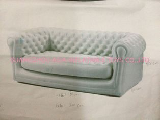 Cina White Pvc Tarpaulin Inflatables Furniture ,  Inflatable White Couch Sofa For Living Room pabrik