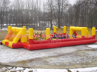 Cina Ce Inflatable Soccer Arena Court For Outside Use , Inflatable Soccer Field For Outside pabrik