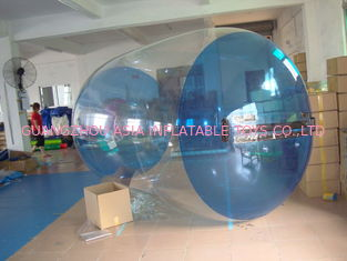 Biru Transparan Inflatable Air Roller Balls untuk Anak Inflatable Pool