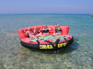 Cina Gila Ufo Towable Inflatables / Dewasa Dan Anak Inflatable Water Sport Games pabrik