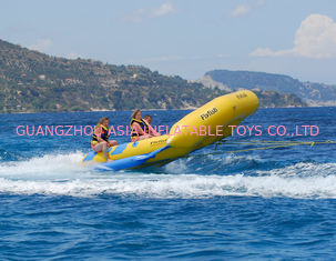 Cina Yellow 0.9mm PVC tarpauli Inflatable Flying Fish Boat With Handles pabrik