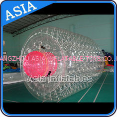 Cina Swimming Pool / Park Transparent Inflatable Water Roller Ball pabrik