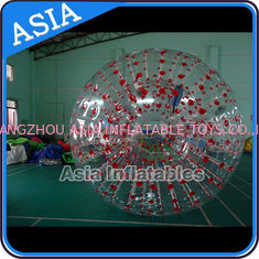 Cina Color Dots Inflatable Zorb Ball , Grass Zorb Ball , Inflatable Human Hamster Ball Customized for Kids and Adults pabrik