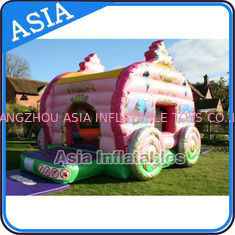 Cina Inflatable Royal Carriage Moonwalk Bouncer For Children Party Hire Games pabrik