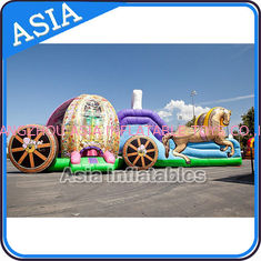 Cina Outdoor Inflatable Horse Carriage Jumping Castle with Slide For Children pabrik