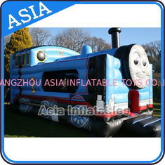 Cina Inflatable Choo Choo Train Tunnel Moonwalk Games For Kids Party Sports pabrik