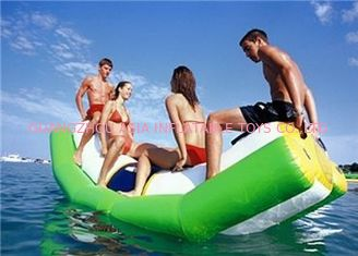 Cina Green And White Single Water Totter Inflatable Water Sports For 4 People pabrik
