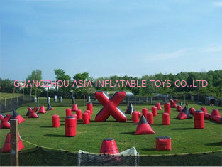 Cina Inflatable Paintball Bunker for paintball Field Equipment pabrik
