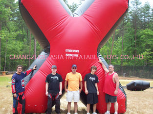 Cina Red commercial Grade PVC Tarpaulin inflatable paintball bunker pabrik