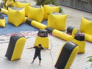 Cina Inflatable paintball bunker blindage with durable vavles pabrik