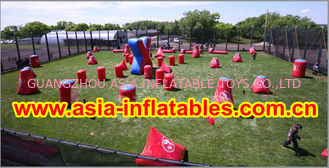 Cina 0.6mm PVC Inflatable Paintball bunker for paintball Sports pabrik