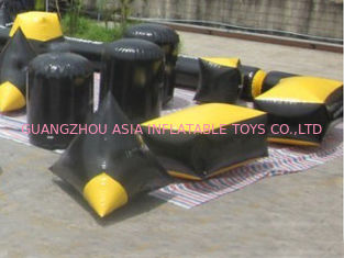 Cina Soft and Safe Blindage Inflatable Paintball Bunker BUN24 for Paintball Sports pabrik