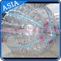 Cina Ce Certificated Transparent Inflatable Zorb Ball In Clear With Color Stirps pabrik