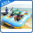 Sealed Towable 4 Person Inflatable Boats Yellow / Blue Rolling Donut Boat pemasok