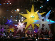 Colorful Inflatable Lighting Star With 2 Meters LED Decoration Light pemasok