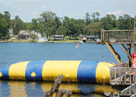 Floating Inflatable Water Trampolines , Lake Inflatable Water Blob pemasok