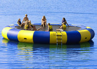 4m bule and yellow water trampoline, inflatable water games trampoline pemasok