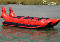 10 Passenger In-Line Red Shark Towable Inflatable Banana Boat For Sale Beach Toy pemasok