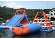 0.6 - 0.9mm PVC Inflatable Floating Water Park With Printing Logo pemasok