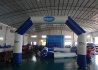 Custom Welding White Blue Inflatable Entrance Arch With Logo Print For Promotion pemasok