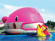 Water Floating Games, Inflatable Obstacle Course In Pink Whale Model pemasok