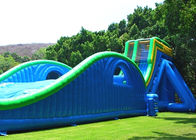 Warna-warni Hippo Water Slide / Inflatable Wave Water Slide Dengan Silk Printing pemasok