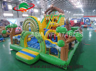 Fire Retardant 8 X 6M Inflatable Zoo Playground For Teenager