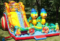 Lovely Inflatable Bug Funcity With Slide, Inflatable Funland For Kids pemasok