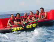 Gila Ufo Towable Inflatables / Dewasa Dan Anak Inflatable Water Sport Games pemasok
