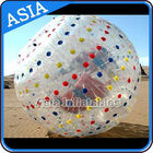 1.0mmTPU Inflatable Clear Zorb Hydro Ball , Color Dots Hydro Ball pemasok