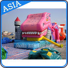 Lovely Inflatable Pink Snappy Dragon Bouncy Castle For Backyard Games pemasok
